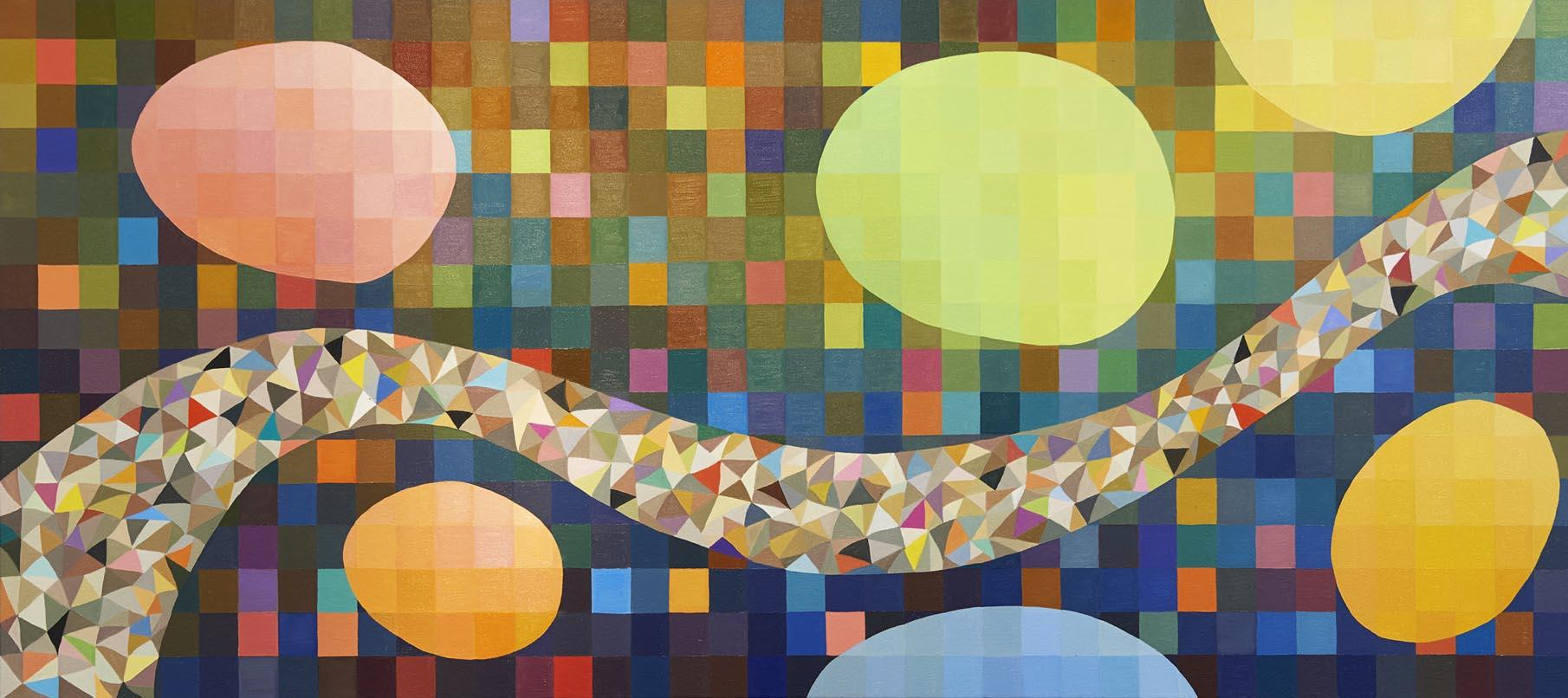 Kari-Bienert-Colour-Babies-Garden-for-the-Children-Oil-on-canvas-200X93cm